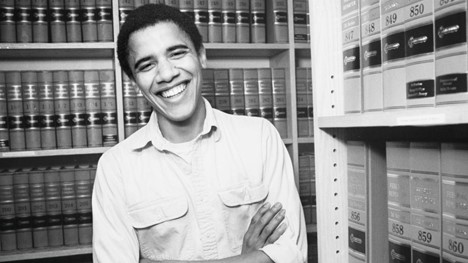تصویری از باراک اوباما در دوران دانشجویی در دانشگاه هاروارد آمریکا