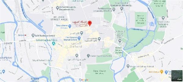 نقشه دانشگاه آکسفورد