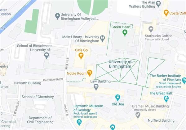 دانشگاه بیرمنگام کجا است؟
