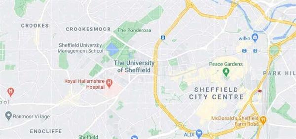 دانشگاه شفیلد کجا است؟